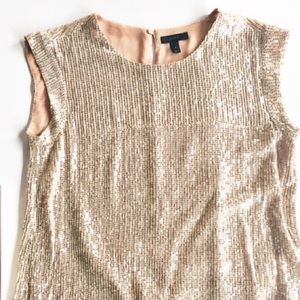 J Crew sequin sleeveless blouse